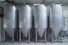 Beer storage tanks
